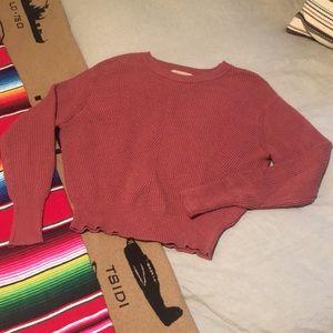 Philosophy   Puff Sleeve Crop Sweater